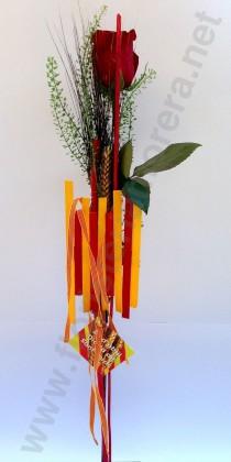 Rosa de Sant Jordi amb la estalada de Catalunya