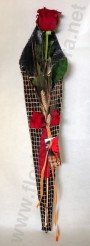 Rosa amb bossa de Sant Jordi