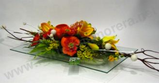 Centre de flor seca i aromàtica amb roselles