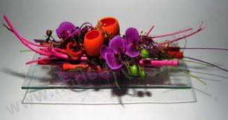 Centre de flor seca i aromàtica amb orquidees