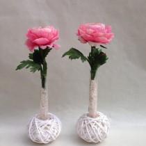 Centres artificials de roses rosa per decorar la teva llar