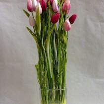 Centre de tulipes artificials per decorar la teva llar
